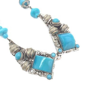 1930s-czech-vintage-turquoise-glass-filigree-necklace