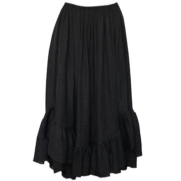 YVES SAINT LAURENT Ruffled High-Low Silk Evening Skirt Size S-M