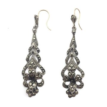 1920s-marcasite-and-silver-drop-hook-earrings