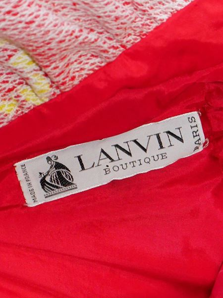 LANVIN 1972 Documented Halterneck Maxi Dress Size M