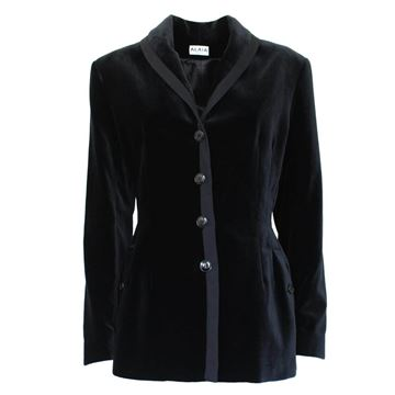 Alaia Black Velvet Four Button jacket