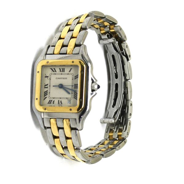 Cartier Panthere gold-steel watch