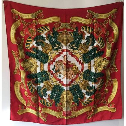 hermes-vintage-europe-silk-scarf-in-red-c1993