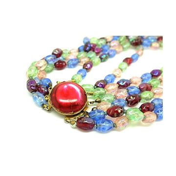 vintage-1950s-multicoloured-beaded-glass-choker-necklace