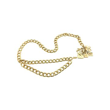 Chanel Gilt Chain With Charms Belt or Necklace - 1996