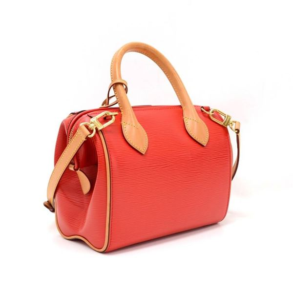 Louis Vuitton Doc Bb Red Coquelicot Epi Leather Hand Bag + Strap v1SwtgSUY