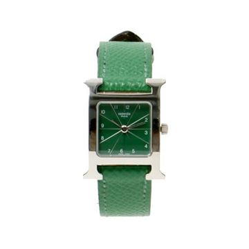 Hermes H Watch in Cactus Green