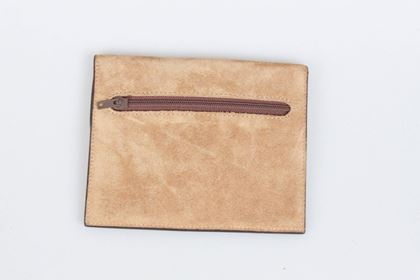 loewe-brown-leather-suede-wallet-coin-purse-pouch