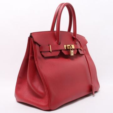 Hermes Birkin 35cm Rouge Top Handle Bag