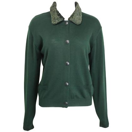 gianni-versace-jeans-couture-green-wool-cardigan