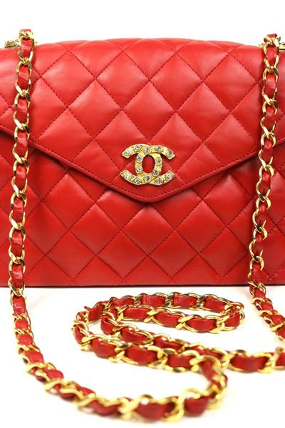 cf16f5fc4547 Chanel Classic Red Quilted Lambskin Leather
