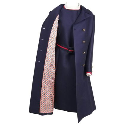 1960s-i-magnin-navy-blue-red-dress-coat-set