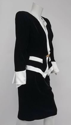 1980s-lilli-rubin-black-velvet-jacket-skirt-suit-set-w-white-satin-trim