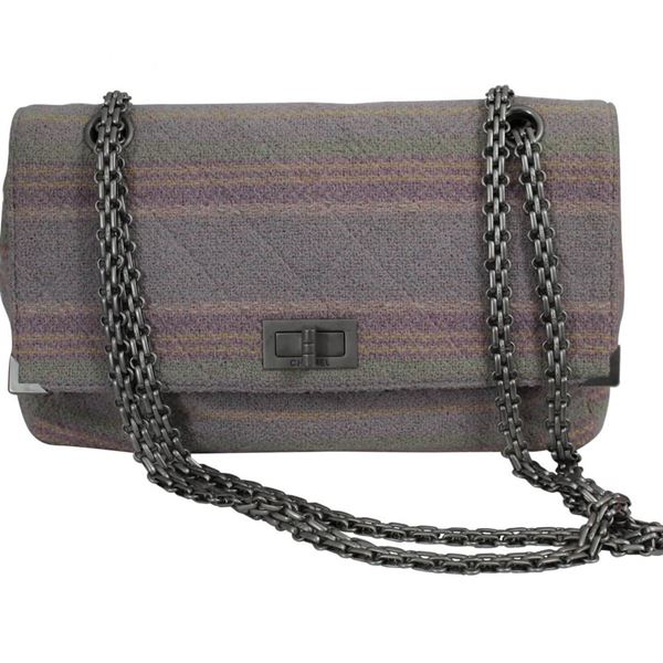 Chanel Multicolor Quilted Cotton Jersey Reissue Silver Hardware Shoulder Bag