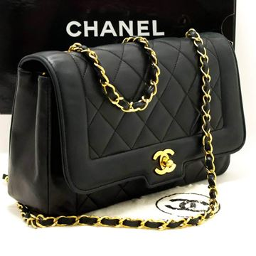 Chanel Crossbody Black Quilted Flap Lambskin Shoulder Bag