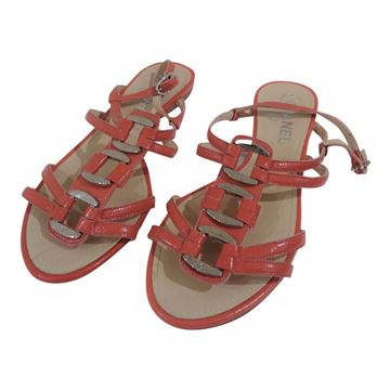 Picture of Chanel pink leather sandals