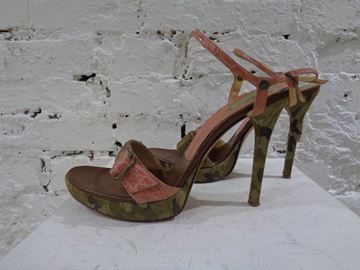 Picture of Casadei camouflage pink sandals