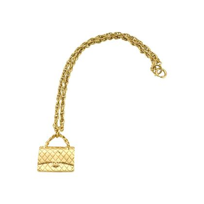 chanel-gold-plated-255-quilted-handbag-pendant-necklace-1994