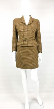 chanel-brown-houndstooth-skirt-suit-1996