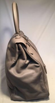Picture of Rare Hermes Grey Chevre 50cm XXL Travel Kelly Bag