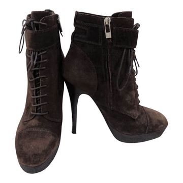 Picture of Yves Saint Laurent brown suede boots