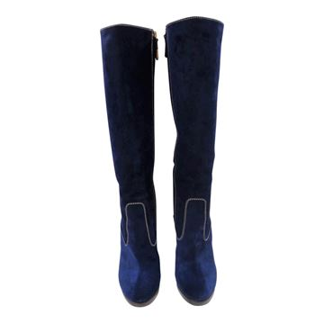 Picture of Dsquared2 Blu velvet boots