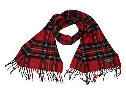 red-vintage-burberry-plaid-cashmere-scarf-red