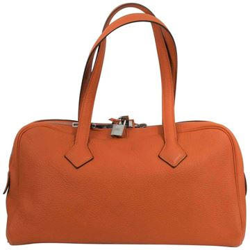 Picture of 2011 Hermes Victoria Bag in Orange Clemence Taurillon Grained Leather