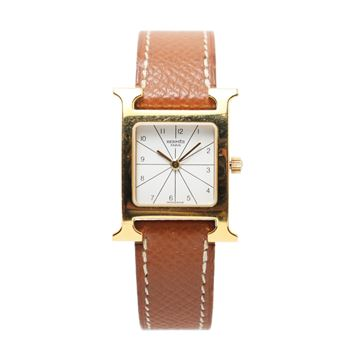 Hermes H Watch in Gold Tone