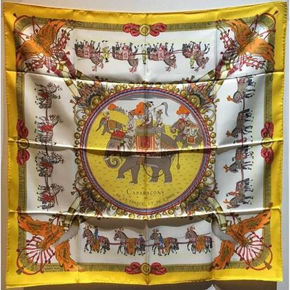 hermes-vintage-caparacons-de-la-france-silk-scarf-in-yellow
