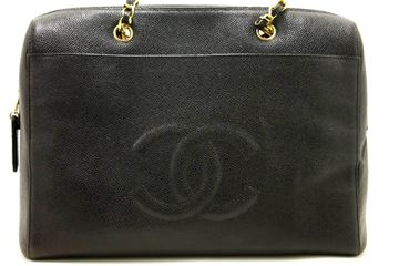 chanel-caviar-jumbo-large-chain-shoulder-bag-black-zip-leather-cc-3