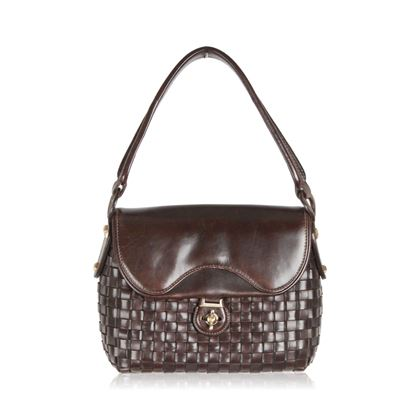 gucci-vintage-brown-woven-leather-handbag-rare