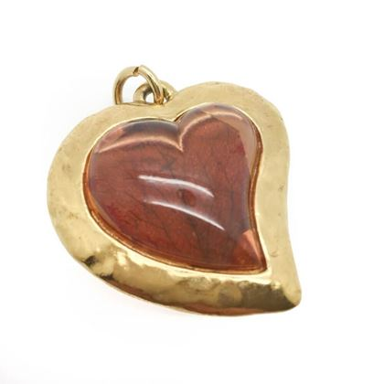 stylish-yves-saint-laurent-ysl-amber-resin-heart-pendant
