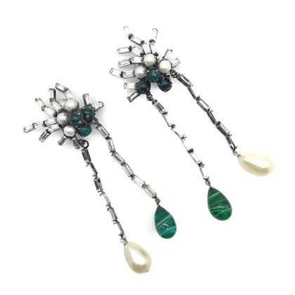 iradj-moini-1990s-statement-faux-emerald-pearl-crystal-vintage-earrings