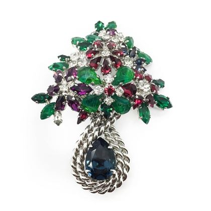 striking-jewel-christian-dior-1960s-faux-ruby-sapphire-emerald-vintage-brooch