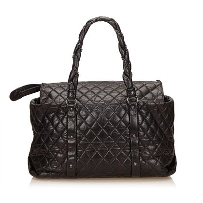 Brown Chanel Quilted Matelasse Shoulder Bag