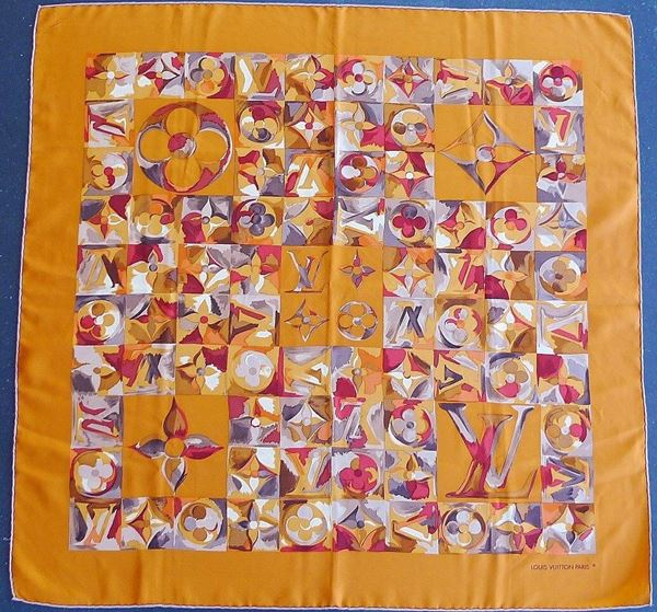 Louis Vuitton Autumnal Vintage Silk Scarf