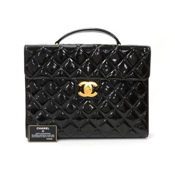 chanel-black-patent-quilted-leather-document-brief-case-bag