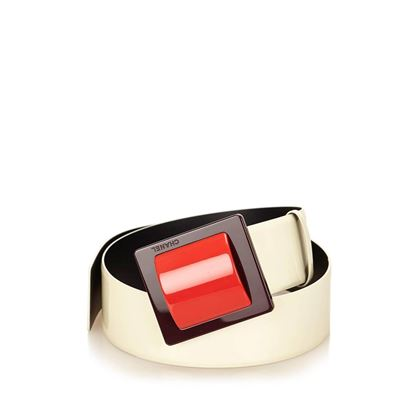chanel-white-patent-leather-with-red-buckle-belt