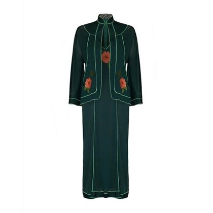 1970s-lesley-sandra-green-dress-and-jacket-set-size-12-2