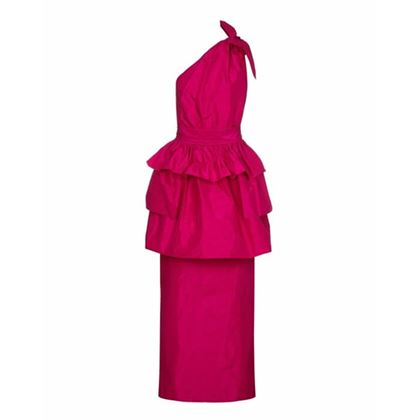 1980s-hot-pink-lanvin-one-shoulder-dress-with-peplum-size-8