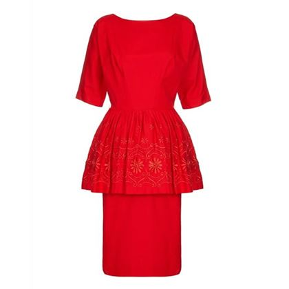 1950s60s-red-cotton-dress-with-embroidered-peplum-size-10-12-2