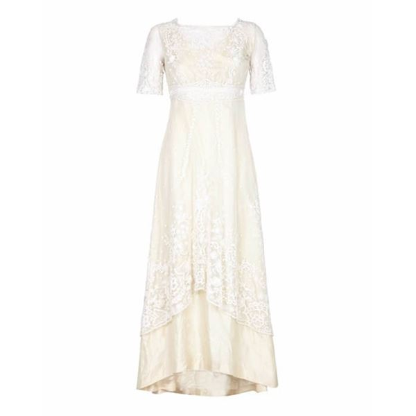 Edwardian Hand Made Lace Wedding Dress Size 8/10 | Open for Vintage