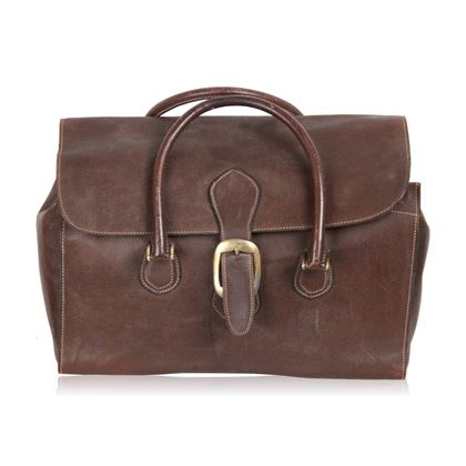 gucci-vintage-brown-leather-travel-bag-weekender
