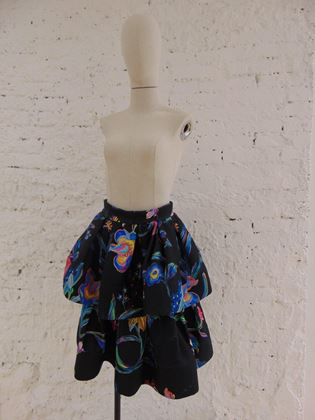 leitmotiv-anthracite-flower-skirt-nwot