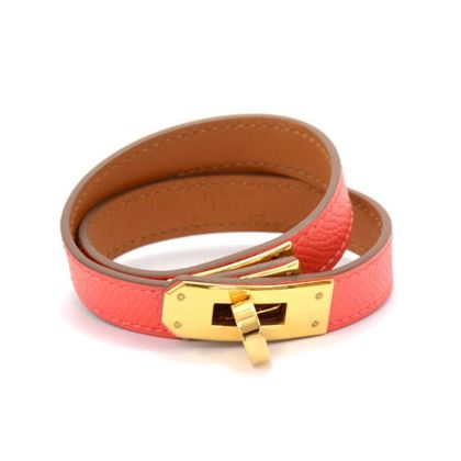 hermes-kelly-double-tour-red-leather-bracelet