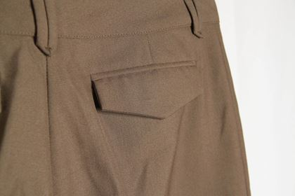 balenciaga-miltary-green-wool-blend-bermuda-trousers-pants-size-38