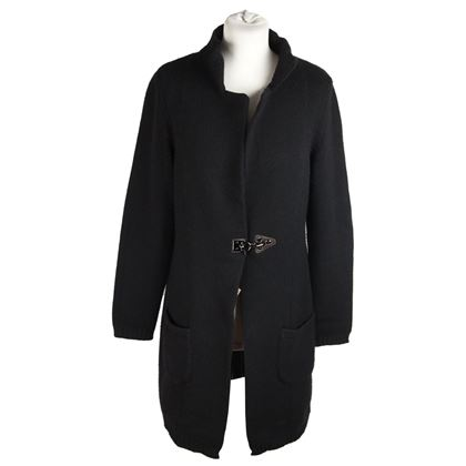 fay-tods-black-wool-cashmere-cardigan-coat-size-m