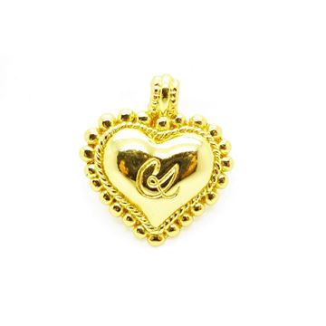Picture of Christian Lacroix Gold Heart Pendant/Brooch 1980s