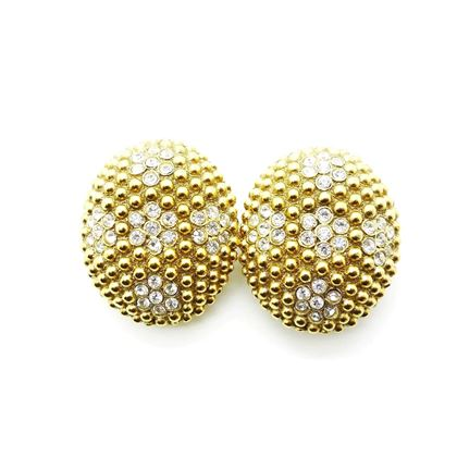 Picture of YSL by Robert Goossens Statement Gold Crystal Earrings